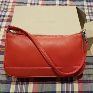Vintage Coach Coral Leather Mini Bag In Box